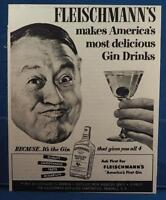 Vintage Magazine Ad Print Design Advertising Fleischmann's Distilled Dry Gin