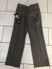 Burton evolución 30S Marrón Vestido frontal Plisado Pantalones RRP £ 35-Nuevo con etiquetas