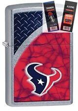 Zippo 29363 Houston Texans NFL Street Lighter with *FLINT & WICK GIFT SET*