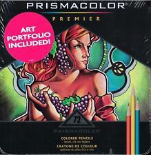 Prismacolor Premier Colored Pencils - Metal Tin - 72 Color Set w/ Art Portfolio