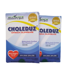 Aim Global Choleduz Omega 3 Plus Vitamin E 1000 mg 20 Capsules