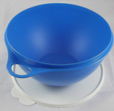 Tupperware Thatsa Bowl Mixing 32 Cups Mix Serve Store Blue w/ Sugar Seal New
