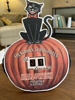 Halloween Vintage Style Countdown Calendar- Rustic Farmhouse Primitive Style