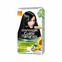 Garnier Color Naturals - Men Permanent Hair Colour Cream - Natural Black 60 ml