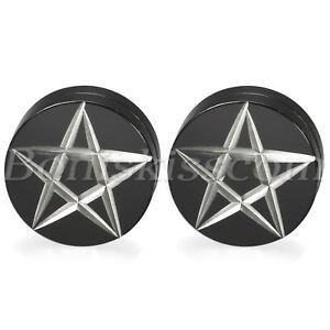 Mens Womens Stainless Steel Pentagram No-pierced Clip On Magnetic Studs Earrings