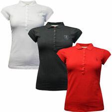 Puma Ferrari 10th Anniversary Womens Short Sleeve Crew Polo Shirt Top 568451