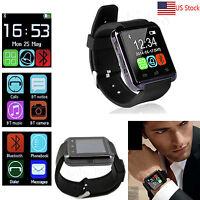 Men Boy Bluetooth Wrist Smart Watch For Android LG G6 G5 Samsung Note 8 S9 Edge