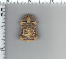 """FBI"" Federal Bureau of Investigation 1-Inch Antique Mini Pin - bronze color"