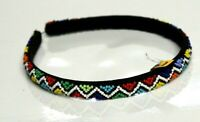 African Zulu beaded wide Alice band - Multi color  #19