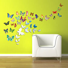 Family Living Room Wall Stickers Mural Decal Paper Art Decoration Butterflies