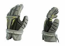 New Under Armour Men's NexGen Lacrosse Gloves Black/Green Large