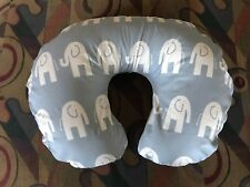 Boppy pillow cover Light Blue With White Elephants Print Also Take Orders Usa