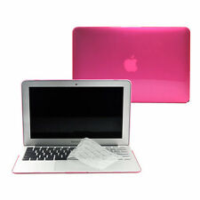 "2 in 1 Crystal HOT PINK Case for Macbook AIR 13"" A1369/A1466 with TPU Keycover"