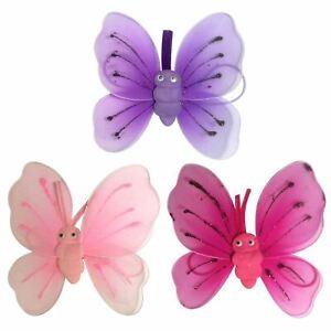 pink butterfly sparkle wings glitter detail fancy dress girls princess fairy