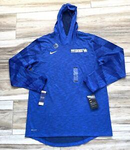 Nike NCAA Kentucky Wildcats Hooded Long Sleeve Dri Fit Sports Shirt Mens Large