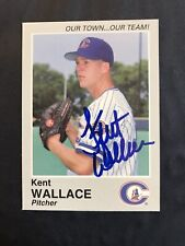 Kent Wallace Signed 1995 Columbus Clippers Team Set Card Yankees In Person