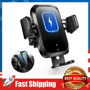 Wireless Car Phoen Charger Touch Sensor Auto Clamping Mount Qi Fast Charging