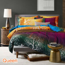 Single/Double/Queen/King/Super King Size Bed Quilt/Duvet Cover Set-Magic Forest