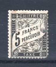"FRANCE STAMP TIMBRE TAXE N° 24 "" TYPE DUVAL 5F NOIR "" NEUF x A VOIR RARE T527"