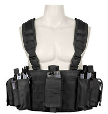 operators chest rig vest molle modular tactical with pouches black rothco 67550