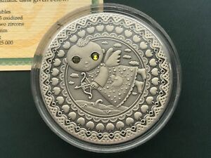 Sagittarius Zodiac of the Sign  20 Roubles Silver Coin With Crystals Belarus