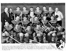 1932-33 CHICAGO BLACKHAWKS 8X10 TEAM PHOTO HOFs GARDINER BURCH COULTER