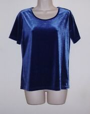 """Jaclyn Smith Blue Pull Over Top  Ladies S  Bust 38"""" Length 24"""""""