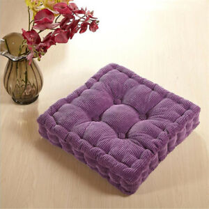 Floor Seat Cushion Pillows Soft Thicken Square Casual Seating Yoga Garden Pads