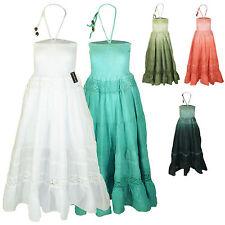 Ärmellose Damenkleider im Boho/Hippie-Stil mit Baumwollmischung für Freizeit