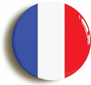 FRANCE FRENCH NATIONAL FLAG BADGE BUTTON PIN