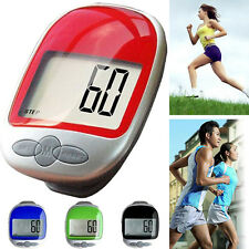 Waterproof LCD Step Movement Calory Counter Walking Distance Digital Pedometer