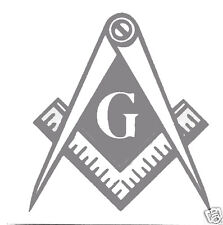 """MASONIC TAIL LIGHT DECALS - 2 PACK for ANY VEHICLE - 3"""" x 3"""" PEEL & PRESS"""