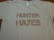 Hunter Hayes Wanted Cry With You Storm Warning Tour T Shirt Large T4