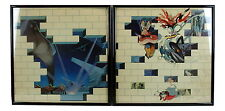 """PINK FLOYD Framed Album Cover SET (2) """"The WALL"""" Rock Music Gift"""