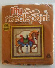 Jiffy Needlepoint Tan Carousel Horse 5564 Sunset Designs Kit NEW