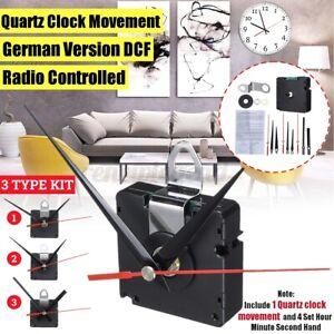 Funk Quartz Uhr Uhrwerk Kit DCF 3 Zeigersätzen Funkuhr Wanduhr Auto Radio DE