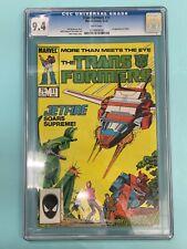 Transformers 11 12/85 Jetfire First Appearance Marvel Comics Graded CGC 9.4