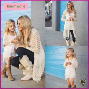 Mutter und Tochter 2 tlg gestrickt Mantel Weste Familie 2XL MAMA Family matching
