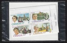 Canada - Set 4 Insc. Corner Blocks of 4 - 1981, Canadian Feminists  #879-882 MNH
