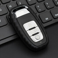 Silicone Carbon Fiber Smart Key Case Cover For Audi A4/A5/A6/A7/A8/S4/S5/S6/S7