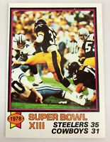 1979 Topps Football Card #168 Pittsburgh Steelers Super Bowl XIII NM