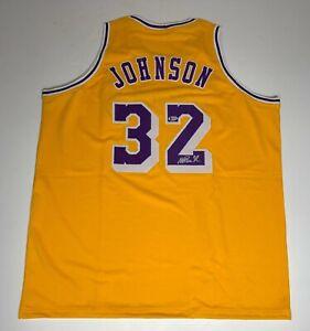 Magic Johnson Signed Lakers Basketball Jersey Beckett I56756