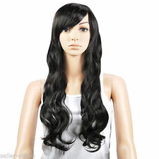 Perruque complète noir longues pour femme