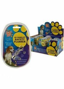 Hi Visibility Safety Flashing LED Pet Collar Night Light Clip Tag Torch Blinking