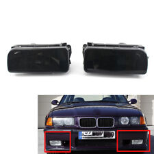 PAIR Replacement Fog Light Lens Smoke for 92-98 BMW E36 318i 318ti 323i 328i New