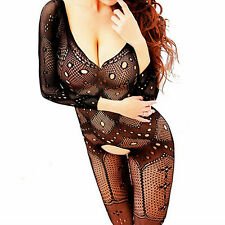 Bodysuit Fishnet Mesh Lingerie Body Stocking Big Dress Nightwear Bodystockings