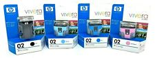 HP 02 Vivera GENUINE Ink Cartridges Color Set Photosmart 3110 3210 3310 8250
