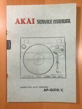 ORIGINAL SERVICE MANUAL & SCHEMATIC AKAI AP-Q310/C TURNTABLE D303