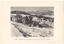 Heliogravure Savoie Le plateau du Revard sur Aix les bains G.L.ARLAUD   1930