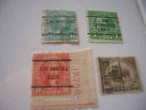 US Stamps -  PRECANCELS SCOTT'S #569 #563 #597 #641 BUFFALO JEFFERSON HAYES FRAN